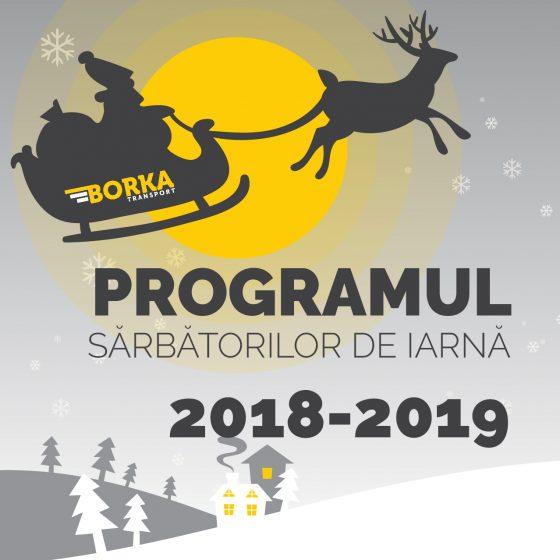 Programul sărbătorilor de iarnă 2018-2019